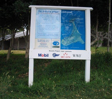 First Motuihe Trust Sign Feb 2005